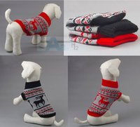 Wholesale Soft Cozy Pet Dog Knit Warm Winter Sweater Clothes Apparel Coat Chrismas Size