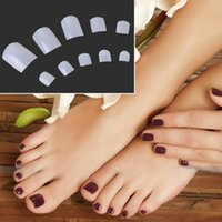 Wholesale Natural Acrylic French False Toe Nail decoration nails art DIYTips Decor Pedicure nail stickers
