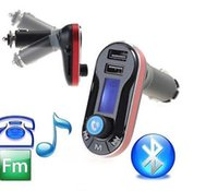 auto tuner iphone - Car MP3 Player Bluetooth Kit Wireless FM Transmitter Modulator LCD SD USB Remote Charger Auto Radio Kits For Universal Cell Phone iPhone LG