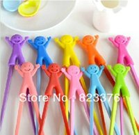 Wholesale pairs children learning chopsticks plastic toy infant chopsticks high quality