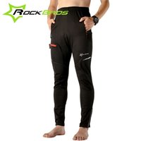 Wholesale ROCKBROS Autumn Winter Windproof Thermal Cycling Pants ciclismo bicicleta Cycling Clothing Bicycle Pants Riding Bike Pants Black
