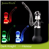 Glass electronic cigarette liquid - New Jomo E cigarette Dark Knight Honor Mechanical Mod dry herb Huge vaporizer pen wax E liquid tubes Ceramic Tank Electronic Cigarette kit
