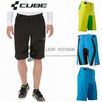 mtb - 2014 New Cube shorts colors MTB DOWNHILL Motorcross teamline men s sports bike riding Cycling Short pants bicycle trouser