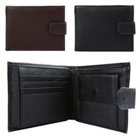 Wholesale New Arrivals Men Wallet Credit Card Holder Bag Purse Black Genuine Leather Fashion EK19