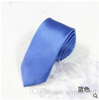 Wholesale 500pcs CCA2386 New Arrival Fashion Men Business Formal Wedding Neck Tie Fashion Leisure Slim Narrow Arrow Necktie Skinny Solid Color Tie