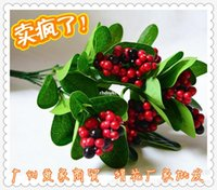 artificial tree - 10pcs Silk Artificial Flowers artificial flowers Simulation fruit fake bonsai tree simulation flower handle new factory direct
