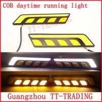 Cheap 12V LED daytime running light Best universal universal COB DRL