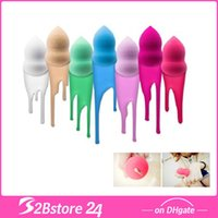 Wholesale Colorful Bottle Gourd Shaped Magic Sponge Flawless Smooth Pro Powder Puff