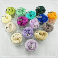 baize color - quot Cold Popular new color series quot Wool felt Tops Roving DIY spin wool Raw Wool Baize poke poke fun Gift g bag