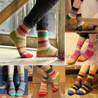 Wholesale Unisex Stripe Cotton Socks Design Multi Color Fashion Dress Men s Women s Socks