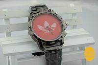 Water Resistant ads golds - 2014 Hot sale AD luxury Gold watch leaf grass fashion All steel watch women Men Sport Watch clocks clover watches