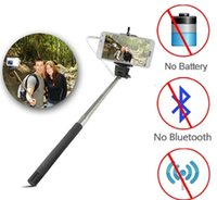 Wholesale Monopod Handheld Telescopic Selfie Stick Tripod Cable Monopod With Holder for iPhone samsung note4