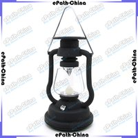 Wholesale LED Solar Hand Crank Powered Light Lamp For Home Garden Yard Outdoor Gutter Fence Wall
