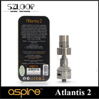 Wholesale Original Aspire Atlantis Atomizer Newest Atlantis V2 Sub Ohm Tank ml Atlantis Subtank fit W W Box Mods DHL Free
