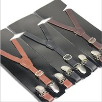 baby brace - Lovely Baby Boys Girls Clip on Suspender Y Shap Faux Leather Clip on Adjustable Braces Shoulder Belt Brace Boys Girls Trousers Folder