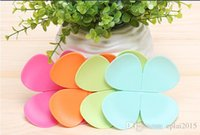 Wholesale 1PCS Creative Sweet D Flower Shape Silicone Tea Coffee Cup Mat Coaster