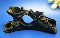 driftwood - Aquarium Decoration Trunk Hole Driftwood for fish Tank Resin Ornaments AK586