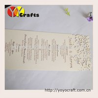 aerial services - Customized laser cut menu cards table cards invitation cards printing service