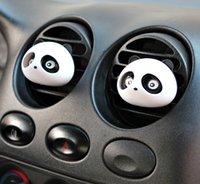 Wholesale DHL Free Mini car outlet perfume lovely panda car outlet perfume Air Purifier Freshener Humidifier Car Fresh supplies pc set