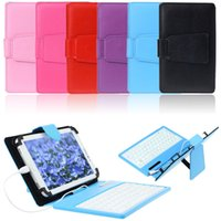 Wholesale New Leather Stand Case Cover With Micro USB Keyboard Deal For Inch Tablet PC Wavors