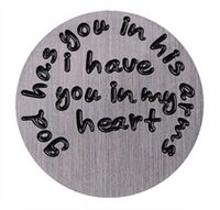 armed windows - God Has You In His Arms I Have You In My Heart Stainless Steel Floating Window Plates For mm Glass Locket