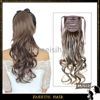 beautiful ponytail - High Quality Drawstring Ponytail inch cm g Cheap Synthetic Hair Mixed Color For Beautiful Ladies Synthetic Tail