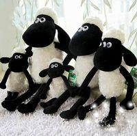 animals goats - Year Of Goat For Mascot Stuffed Toys Black White Sheep Plush Toys Big Eyes Sheep Stuffed Animals Two Size For CM K297