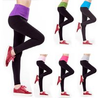 Wholesale Feitong Women Yoga Sports Elastic Pants Force Exercise Tights Female Sports Elastic Fitness Running Trousers Slim Leggings