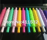 Wholesale 10pcs Fondant Rolling pin Cake Decoration sugarcraft Print press mold embossing rolling pin JA100453