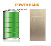 Wholesale ultra thin Power Bank mAh Backup Power Recharge External Battery Pack For mp3 Mobile Phone iphone s