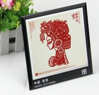 Wholesale Scissor cut Folk Pure Manual Arts and Crafts Red Peking Opera Masks Paper cut