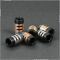 wang - Newest EGO E Cig King Drip Tips mm Wide Wang Word Drip Tip Stainless Steel Copper Brass with Resin Atomizer Mouthpieces