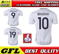 france - France Soccer Jersey BENZEMA ZIDANE GRIEZMANN POGBA FRANCE top thailand quality MATUIDI RIBERY Jersey Away jersey football kit