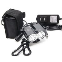 Wholesale 8 v Waterproof x CREE XM L T6 LED Front Bicycle Light Outdoor Cycling Sports Mountain Bike Headlamp Headlight