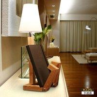 bedside bookshelf - Kadi Sen bedside bedroom modern minimalist fashion creative LED reading eye bookshelf decorative wood fixtures