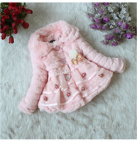 best baby clothing brands - 2015 Best Seller Girls Autumn And Winter Coat Children Soft Cotton Outwear With Lace Baby Clothes