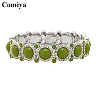 Wholesale New k Yellow Gold Filled Clear Austrian Jewelry simulated jade bangles bracelet good luck crystal bangles bijoux