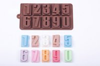 baking tray number - 0 Numbers Shaped Ice Lattice Mold Environmental Silicone Jelly Mold Chocolate Pudding Ice Tray Mold Cake Baking Tools O2003