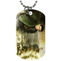 bead pet patterns - new style Wentworth Miller fashion pattern Dog Tag Necklace Aluminum Tag for Animal Pets Tag pendant bead chain