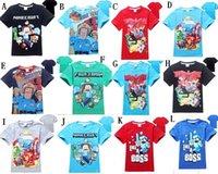 Cheap 30%OFF Girls Cartoon Minecraft my world Fireman T-shirt Cute Pattern Long Sleeve Tees Children Kids T Shirt Spring Autumn Clothing3PCS
