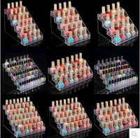 clear nail polish - Nail polish stand Clear Acrylic cosmetic Holder Display Stand Cosmetic Organizer Makeup Case
