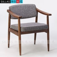 Wholesale Nordic solid wood armchair meeting chair leisure chair contracted and contemporary Japanese furniture