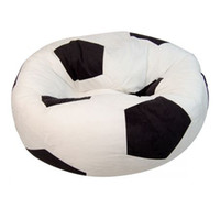 Wholesale black and white suede football Soccer Ball Shape bean Bag without beans ONLY BAG