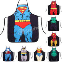 funny novelty aprons - Aprons Cotton Kitchen Funny Novelty Sexy Superman Batman Spiderman Cooking Apron Styles Fashion Creative Whimsy Apron Free UPS Factory