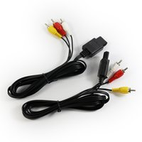 cable for tv game - DHL FT Feet AV TV Video Cord Cable For NDS Nintendo N64 Game Cube Black Color