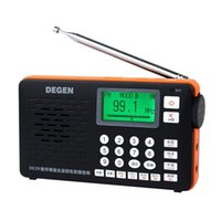 stereo band tunes - DEGEN DE29 FM Radio Digital Tuning Full Band Card Receiver Campus Radio Broadcasting Telecommunications TF Music Direct Playback Y4217A
