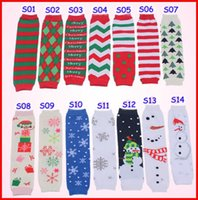 Wholesale Fedex EMS DHL Christmas Baby Leg Warmer infant colorful Santa leg warmer child socks Legging Tights Baby Skull Leg Warmers Adult Arm Warmers