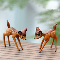accessories for rooms - artificial mini deer sika fairy garden miniature gnomes moss resin crafts figurines for home decoration accessories