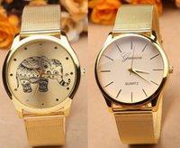 Wholesale 2016 Fashion unisex metal geneva men women watch luxury Reticularis Mesh ladies casual monkey elephant design quartz watches