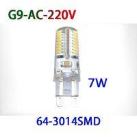 achat en gros de 6w g9 conduit ampoule-Haute qualité Ampoules LED Ampoule LED G9 110V 220V SMD 3014 3528 7W / 6W / 9W Lampe LED cool chaud Ampoule LED maïs blanc Crystal Light Lampe